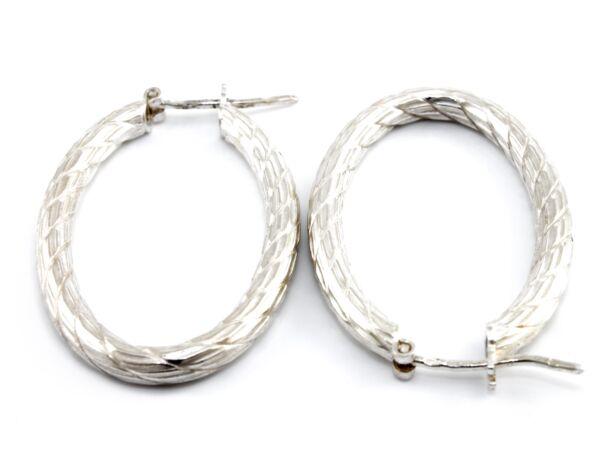 Ovális ezüst fülbevaló
