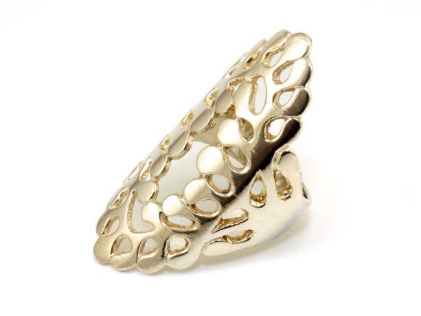Áttört hosszúkás női ezüst gyűrű