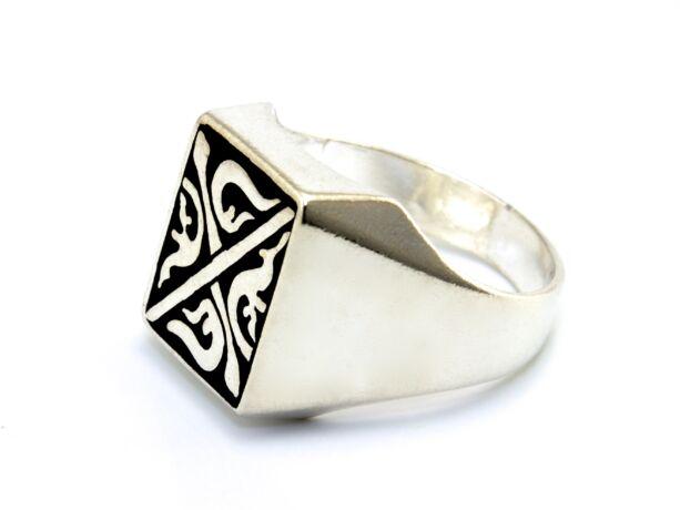 Férfi ezüst pecsétgyűrű