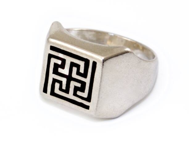 Mintás ezüst pecsétgyűrű