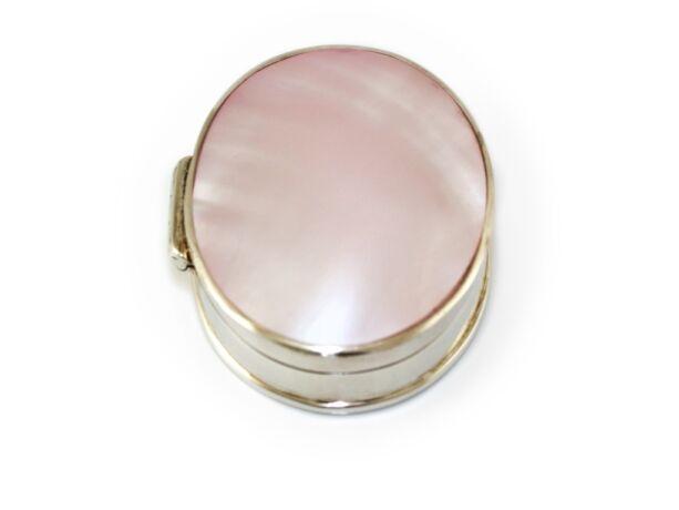 Gyöngyházas ezüst szelence