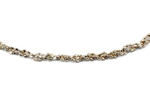 Fonott bogyós ezüst nyaklánc