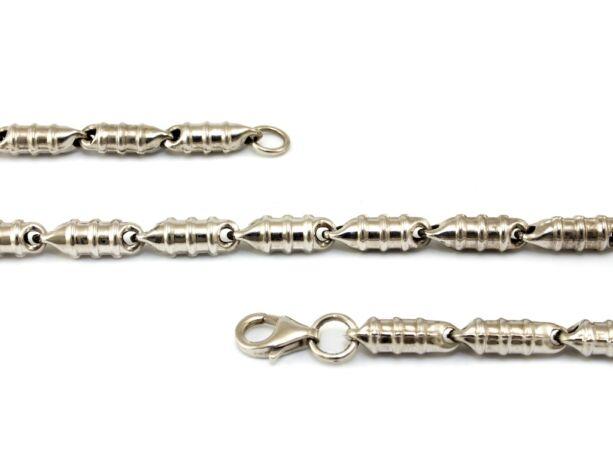 Barakka jellegű ezüst nyaklánc