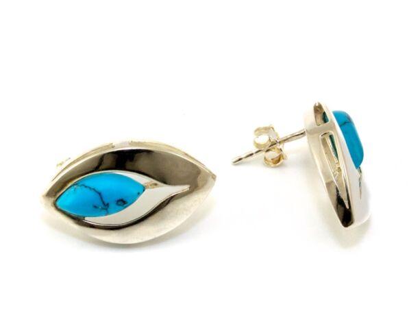Kék köves ezüst fülbevaló