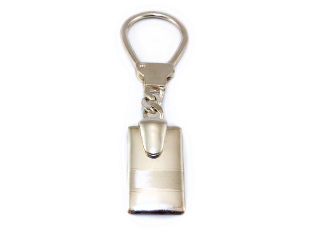 Matt és fényes ezüst kulcstartó