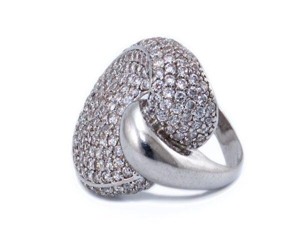 Sokköves fantázia ezüst gyűrű