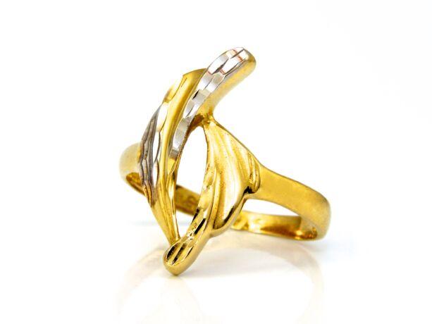 Bicolor női arany gyűrű