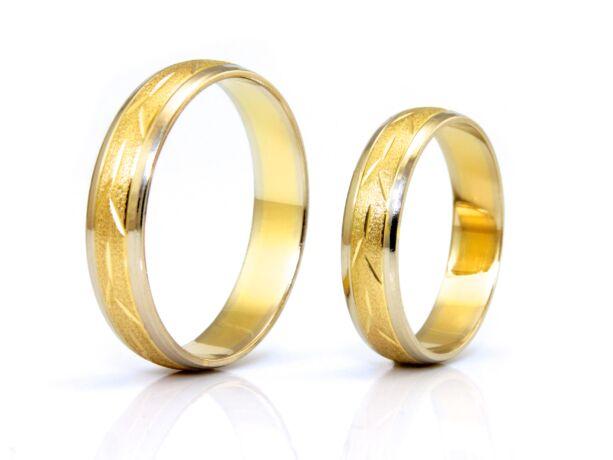 Női bicolor arany karikagyűrű
