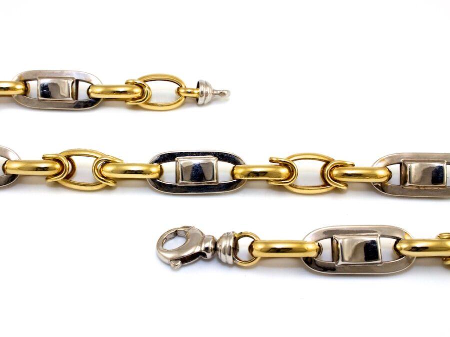 f940a839a Barakka jellegű bicolor arany nyaklánc