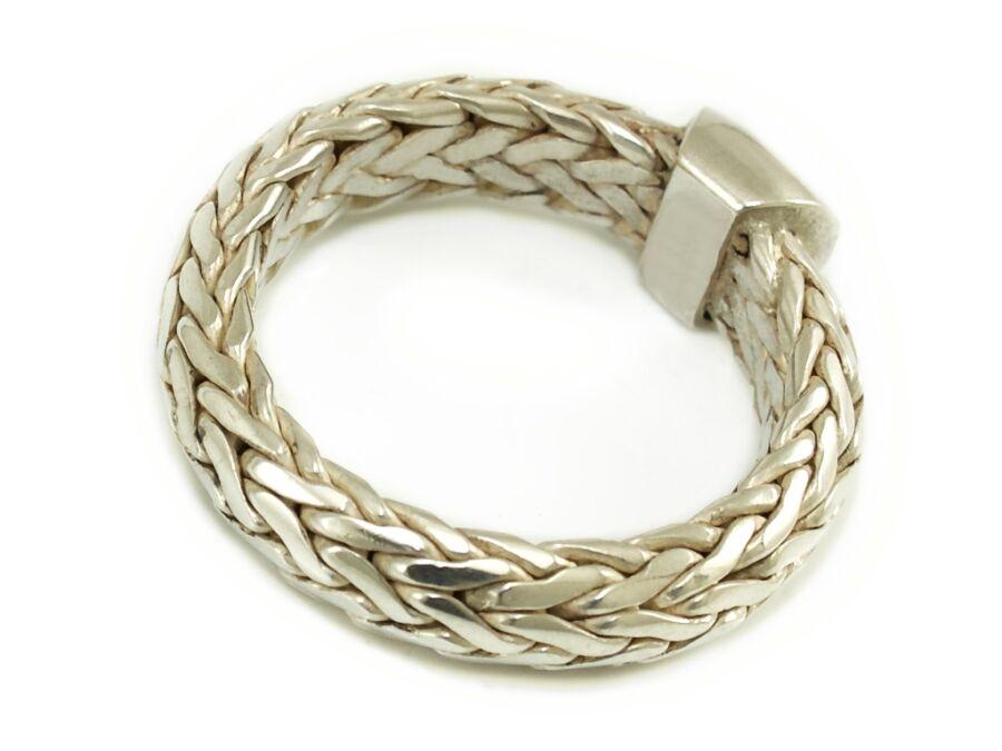 6b7283364b Fonott férfi ezüst gyűrű - Férfi ezüst gyűrű - 2055521