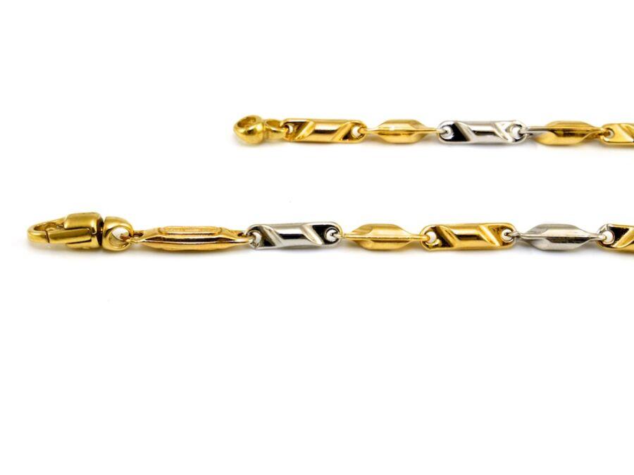 67ed124bc Vékony barakka jellegű bicolor arany karlánc