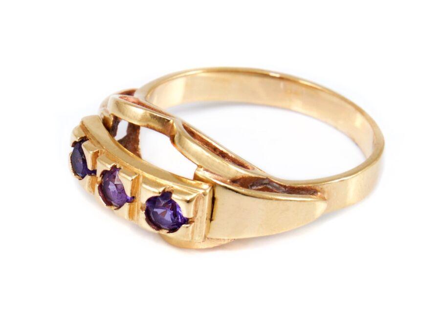 8a55d85a6 Halvány lila köves arany gyűrű