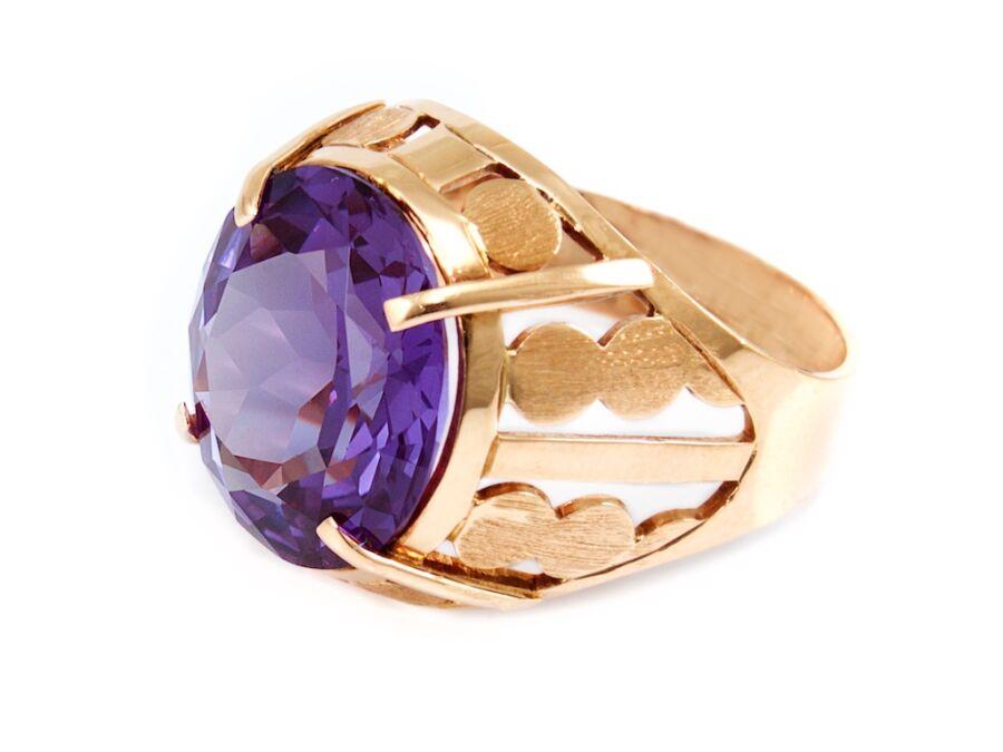 623d66f2f Lila köves áttört arany gyűrű